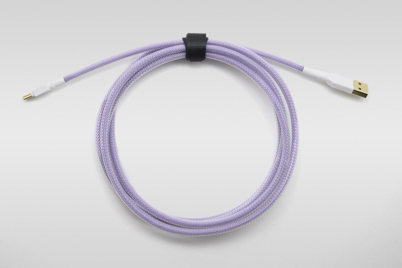 Lavender paracord w/ Clear Techflex
