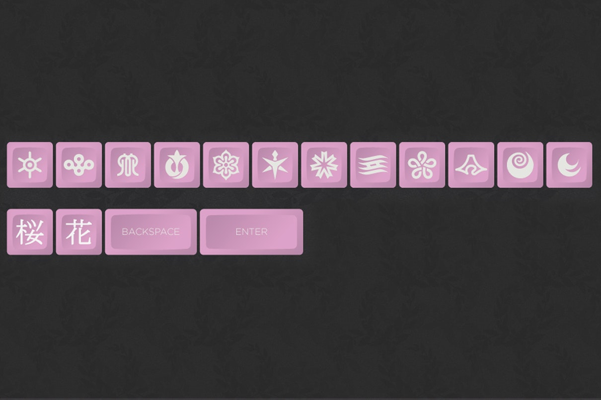 Hana DSA Custom Keycap Set