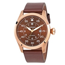 Brown dial with PVD Rose Gold tone case