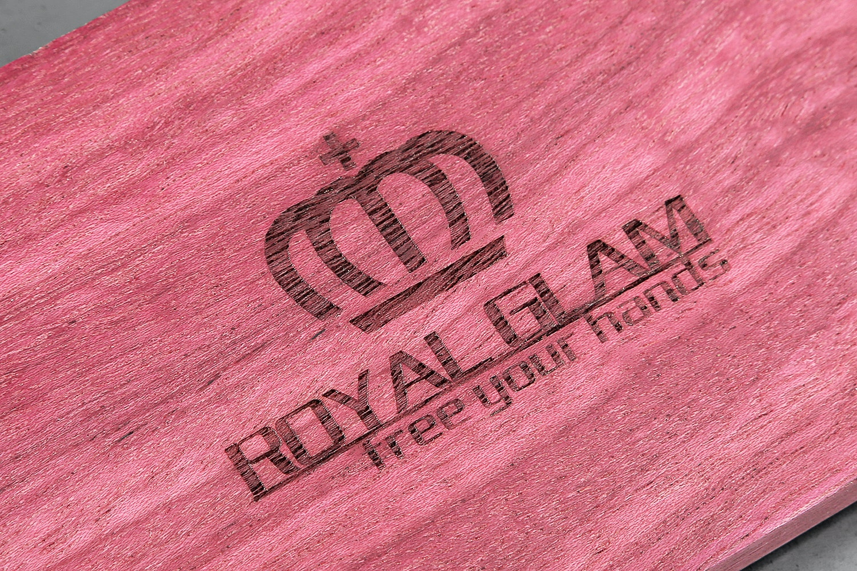 Royal Glam Hardwood Wrist Rests
