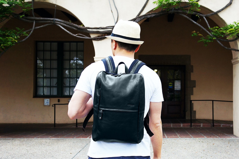 Harvest Label Leather Avenue Backpack