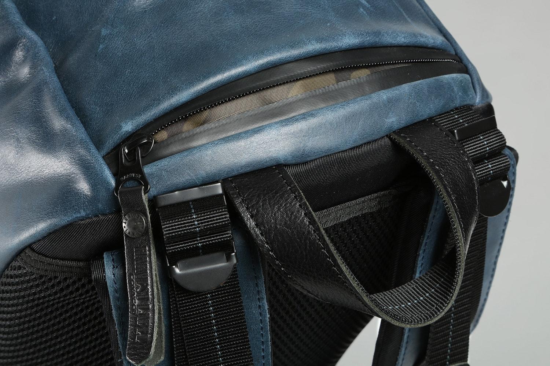 Harvest Label Leather Bomber Backpack