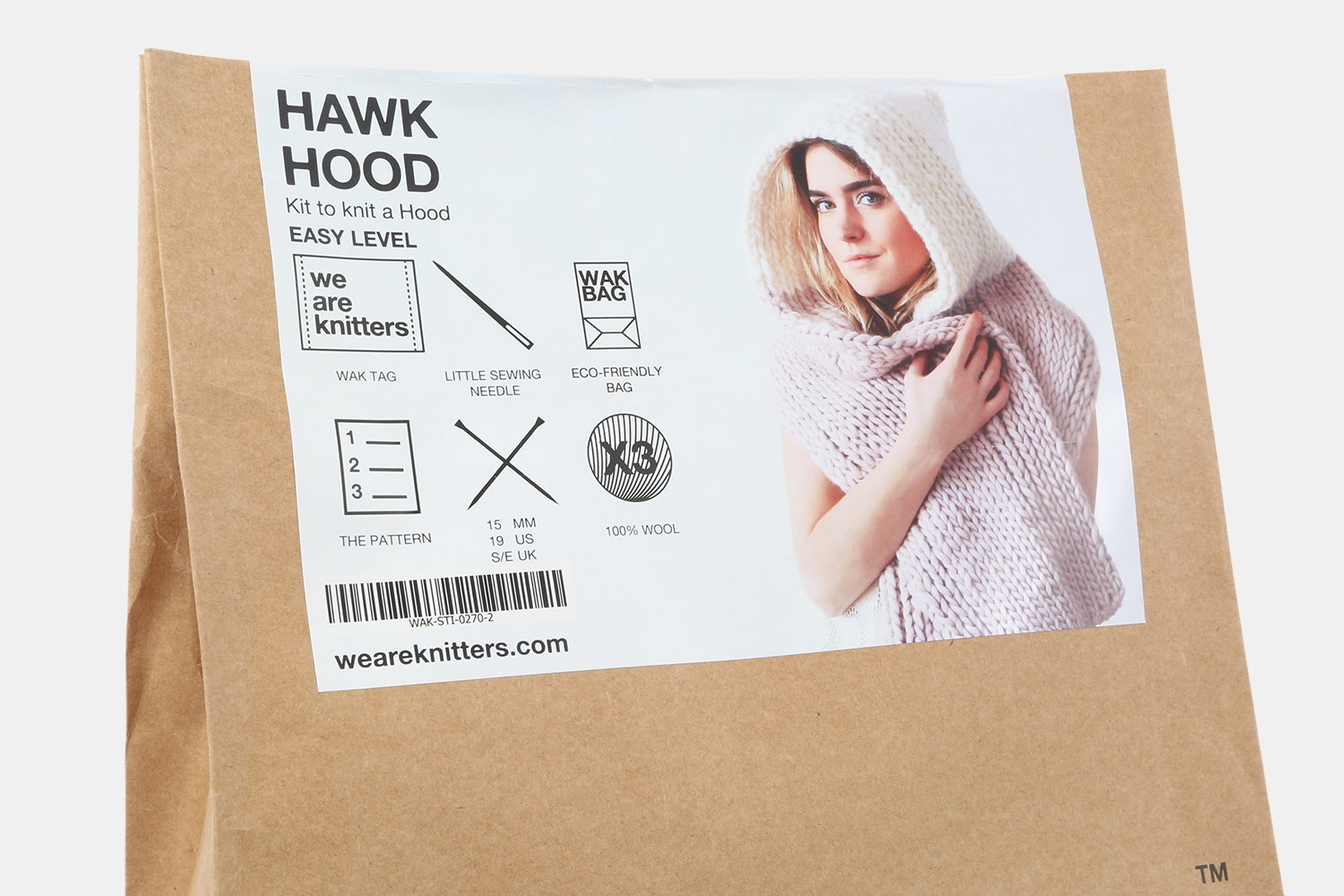 Hawk Hood Kit by We are Knitters