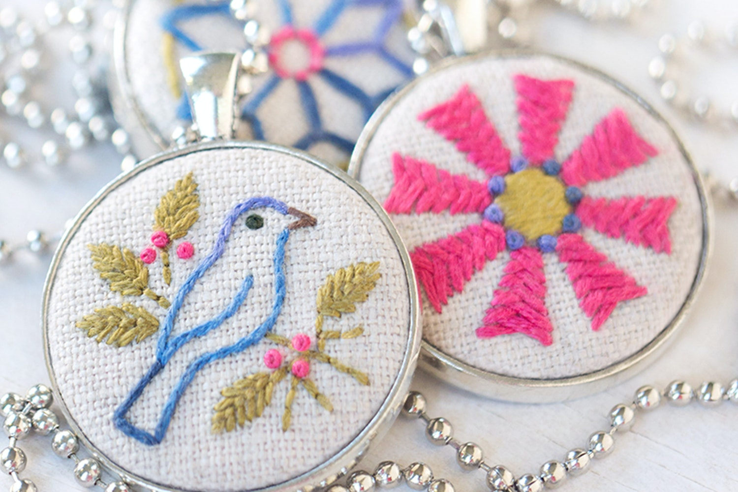 Heather Bailey Embroidered Jewelry Kit