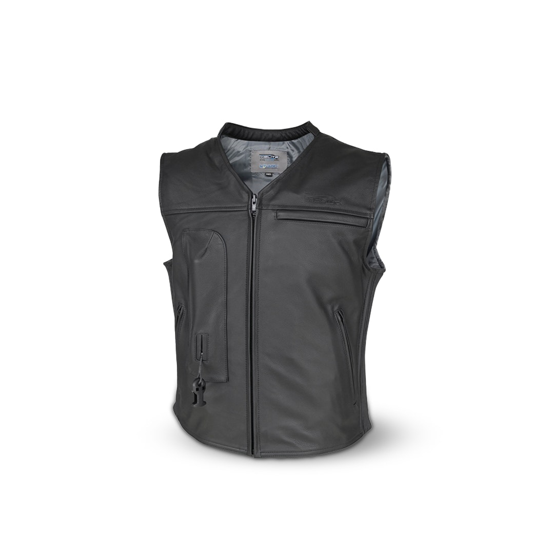 Helite Moto Leather Airbag Vest