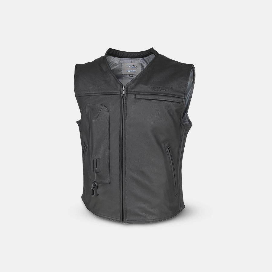 Helite Moto Leather Airbag Vest
