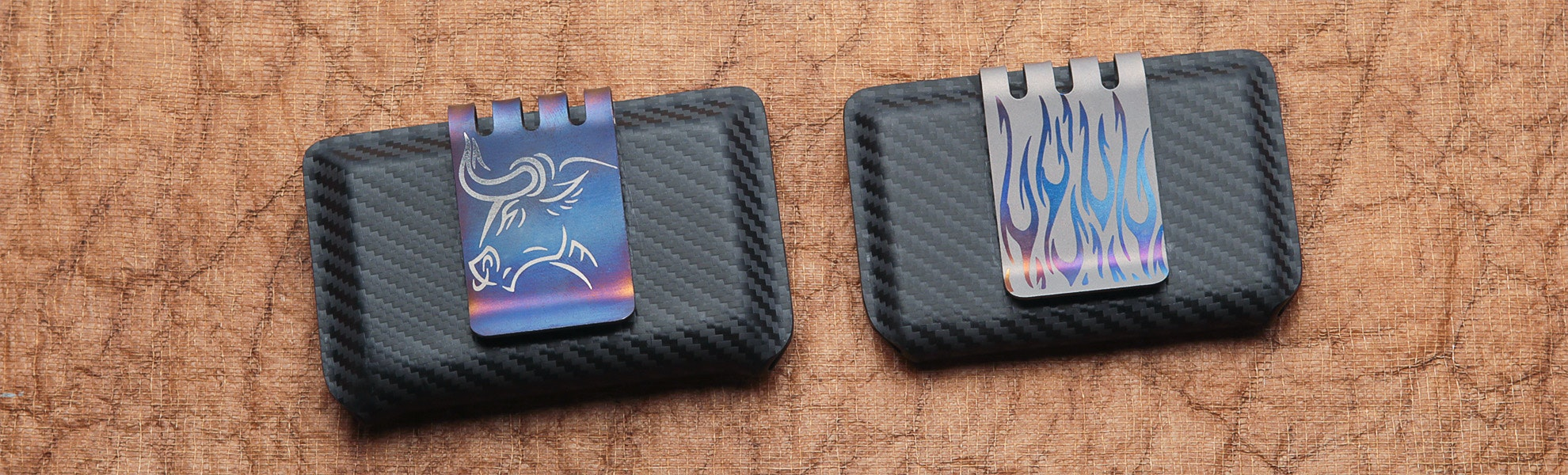 Hell-Bent Combat Wallet & CF Ti Money Clip