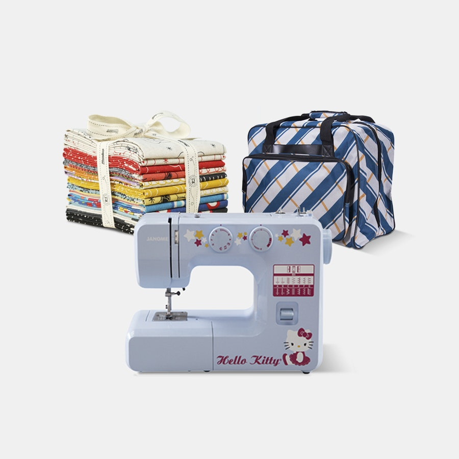 Hello Kitty Janome Sewing Machine Bundle
