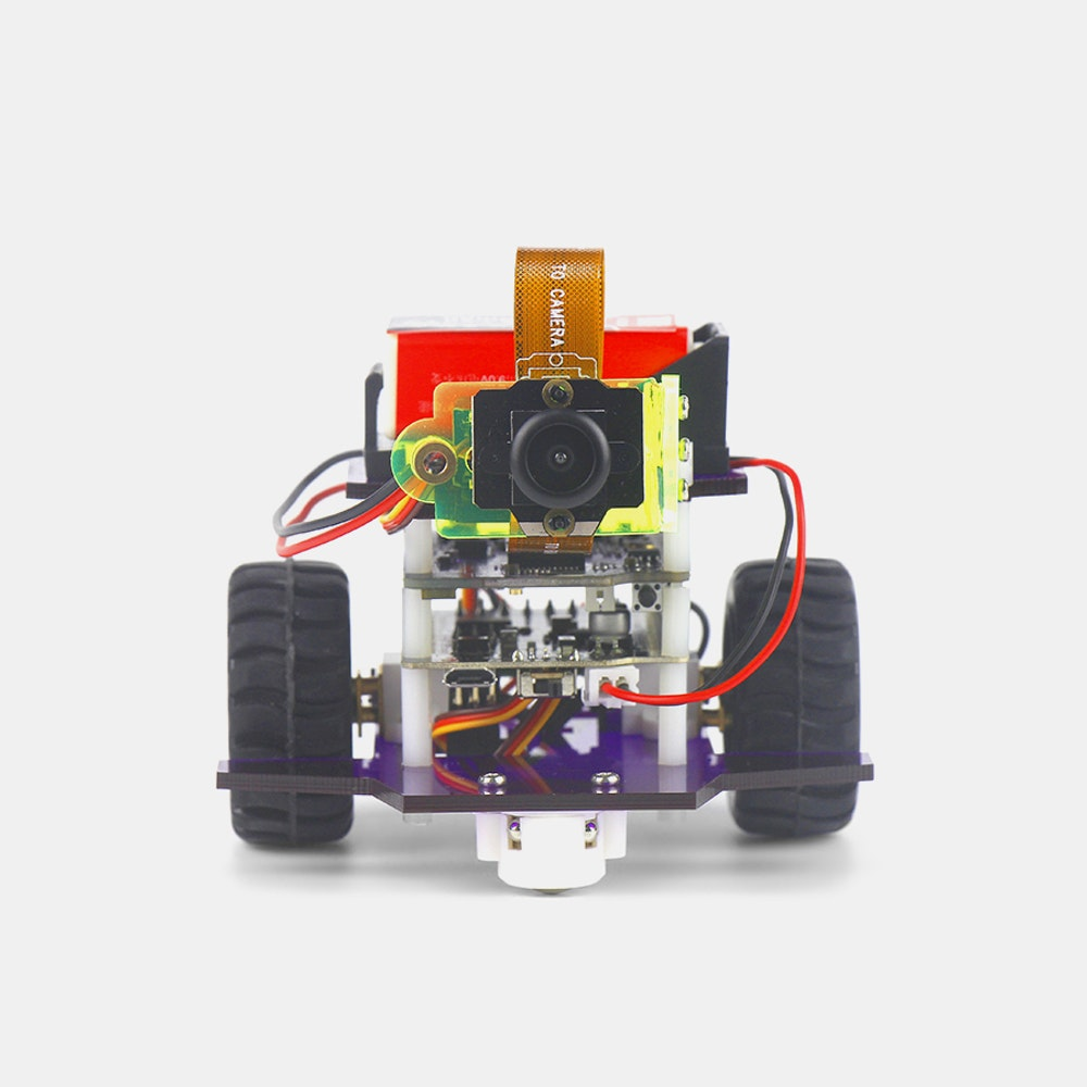 HICAT Livera Arduino-Compatible Camera Robot Kit Build Your Own Arduino-Controlled Robot -- Ever wanted to build your own robot? Now you can. The HICAT Livera camera robot kit comes with all you need to assemble a programmable robot at home. Inside, you'll find a HICAT Livera board, motor driver board, camera module, Livera camera cable, two-gigabyte SD card with built-in firmware, E-MAX SERVO, DC gear motors, and the hardware to build a functioning robot. The HICAT Livera board can be paired through Wi-Fi and contains everything necessary to support the microcontroller. Just connect it to a computer via USB or power it with the 3.3-volt Lipo battery. The microcontroller supports thousands of open source codes and can be programmed to create new functions. Finally, the camera module can capture video and photos, has open CV-compatible image processing, and can store files on the onboard SD card.