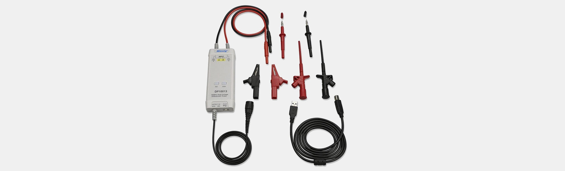 High-Voltage Differential Probe for Oscilloscope