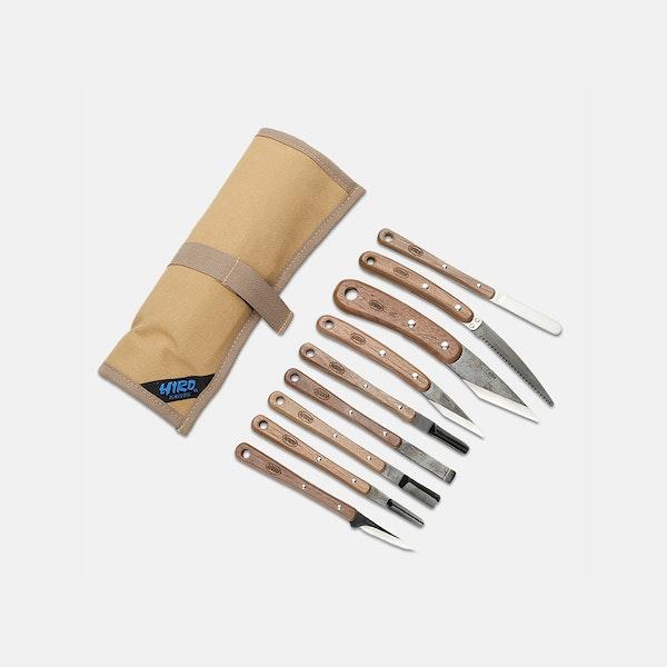 Hiro wood carving knife set pieces price reviews