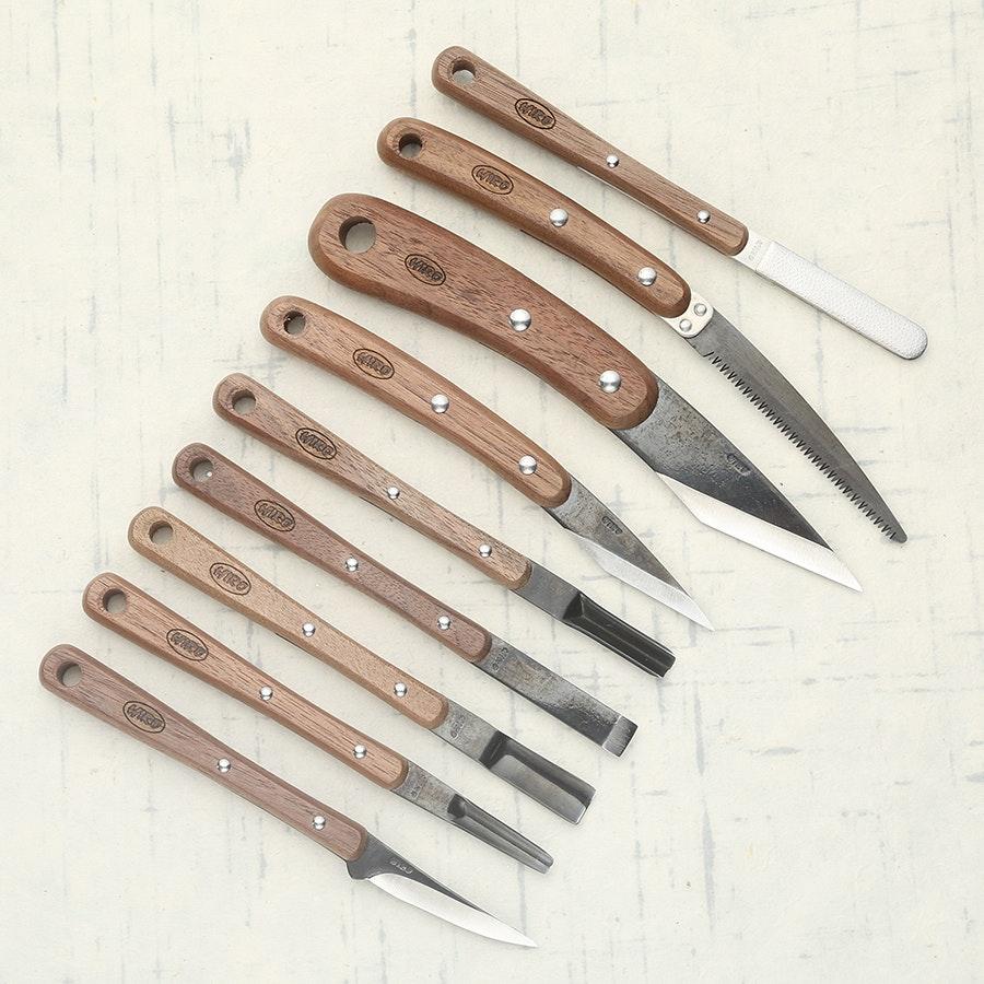 HIRO Wood Carving Knife Set (9 Pieces)