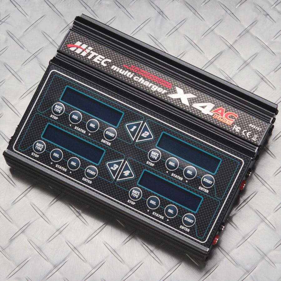 Hitec X4 AC/DC Four Port Multi-Charger
