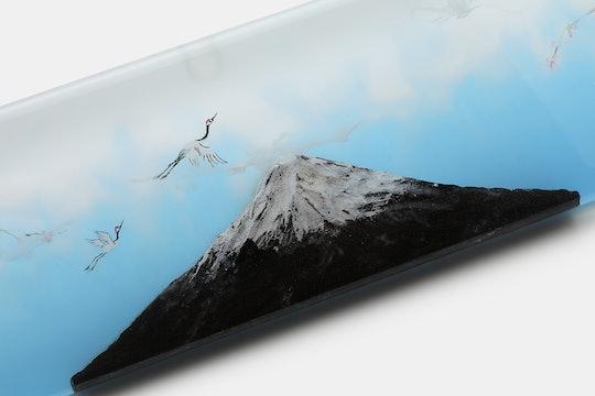 HLYM Mt. Fuji & Full Moon Artisan Resin Wrist Rests