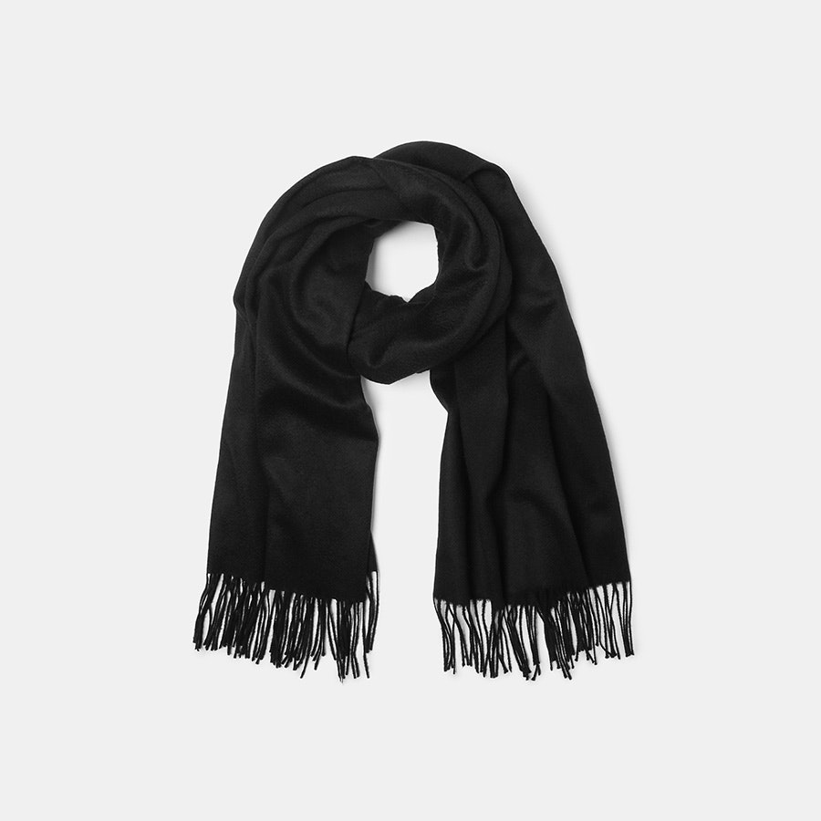 Hogarth Oversized Cashmere-Lambswool Scarf