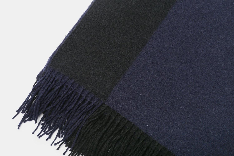 Hogarth Reversible Wool-Cashmere Throw