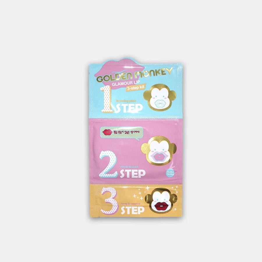 Holika Holika Golden Monkey Lip 3-Step Kit (3-Pack)