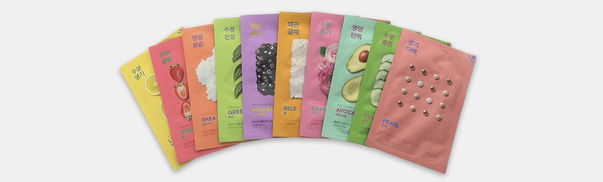 Holika Holika Pure Essence Assorted Masks (10-Pack)