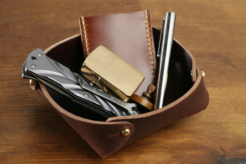 Hollows Leather Pocket Dump Tray