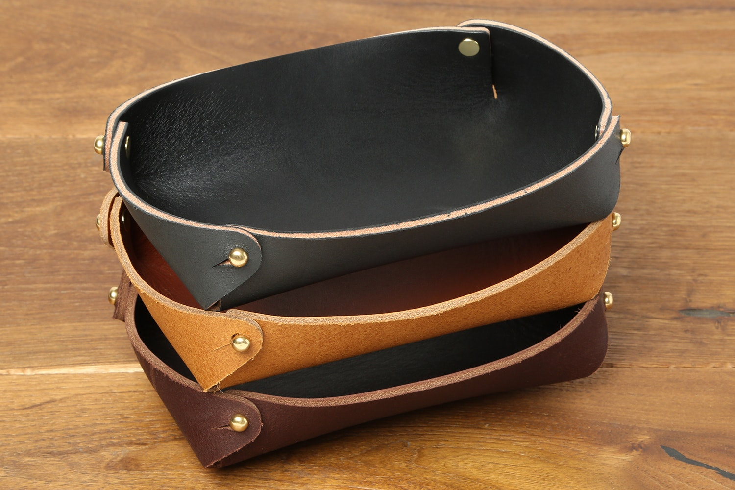 Hollows Leather Pocket Dump Tray