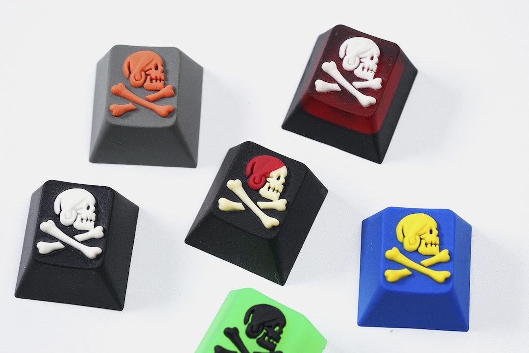 Hot Keys Project Skull Bones Artisan Keycap