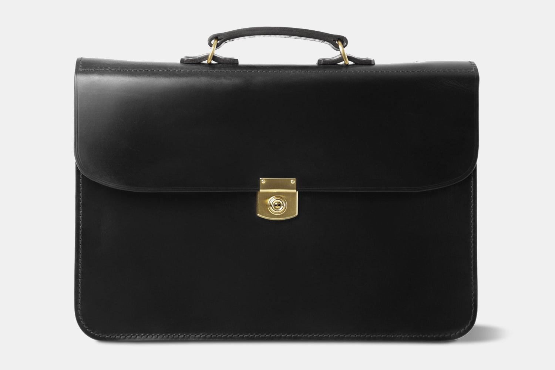 Hrothgar Stibbon Salisbury Leather Briefcase