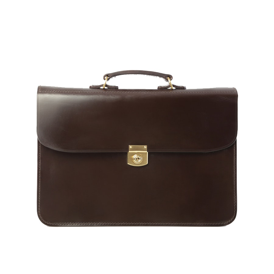 Hrothgar Stibbon Salisbury Leather Briefcase