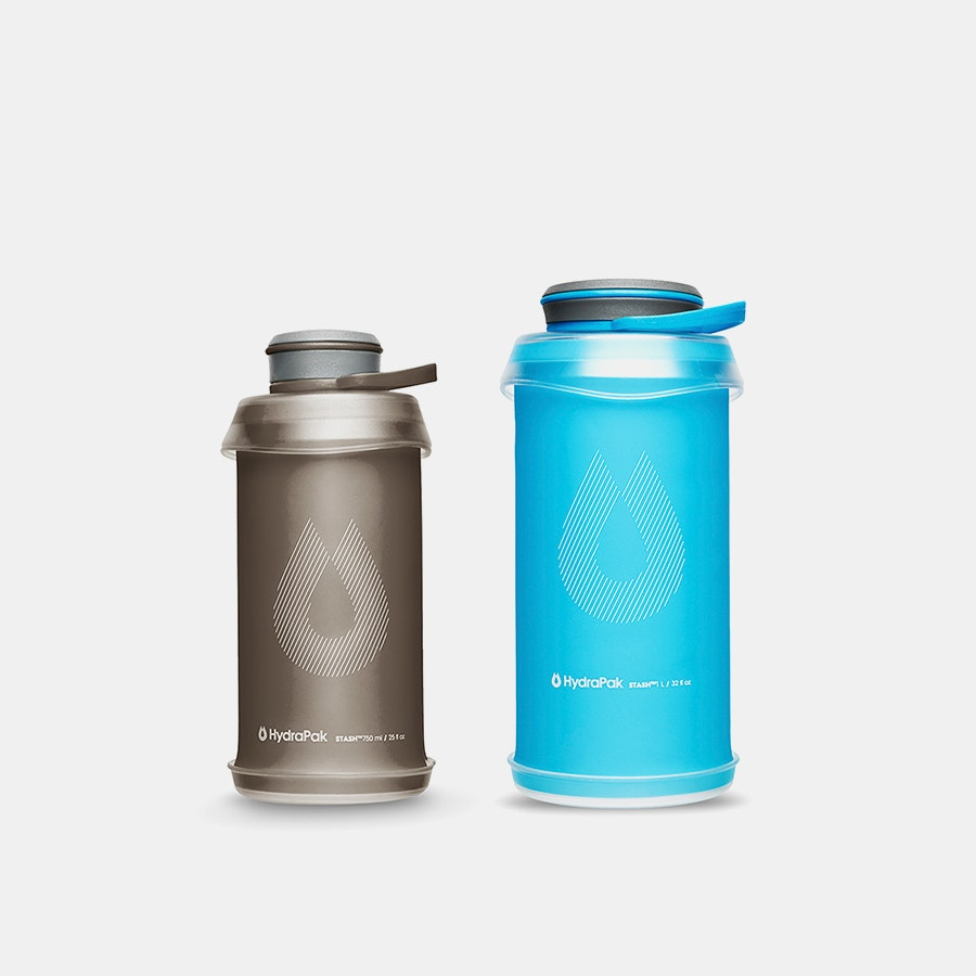 Hydrapak 750ml & 1L Stash Bottles (2-Pack)