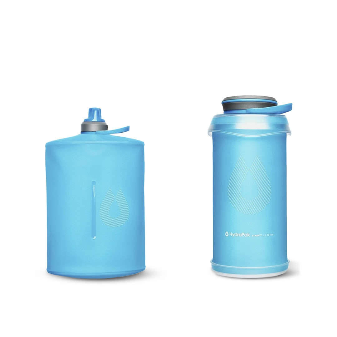 HydraPak Stow/Stash 1L Collapsible Bottles (2-Pack)