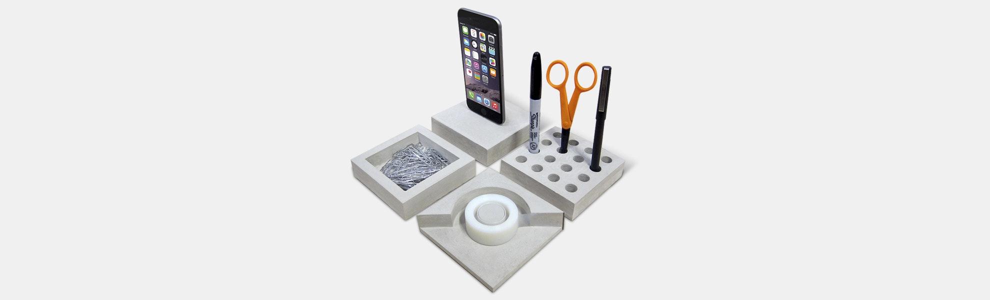 Slabs Concrete Desk Set