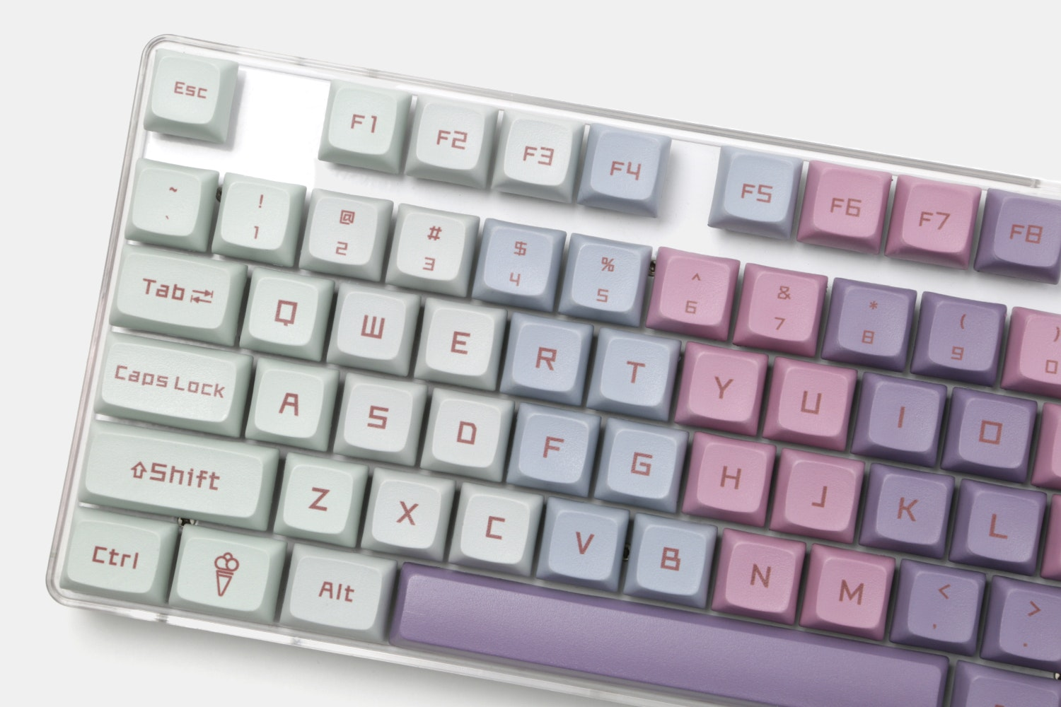 Ice Cream PBT All Over Dye-Subbed Keycap Set