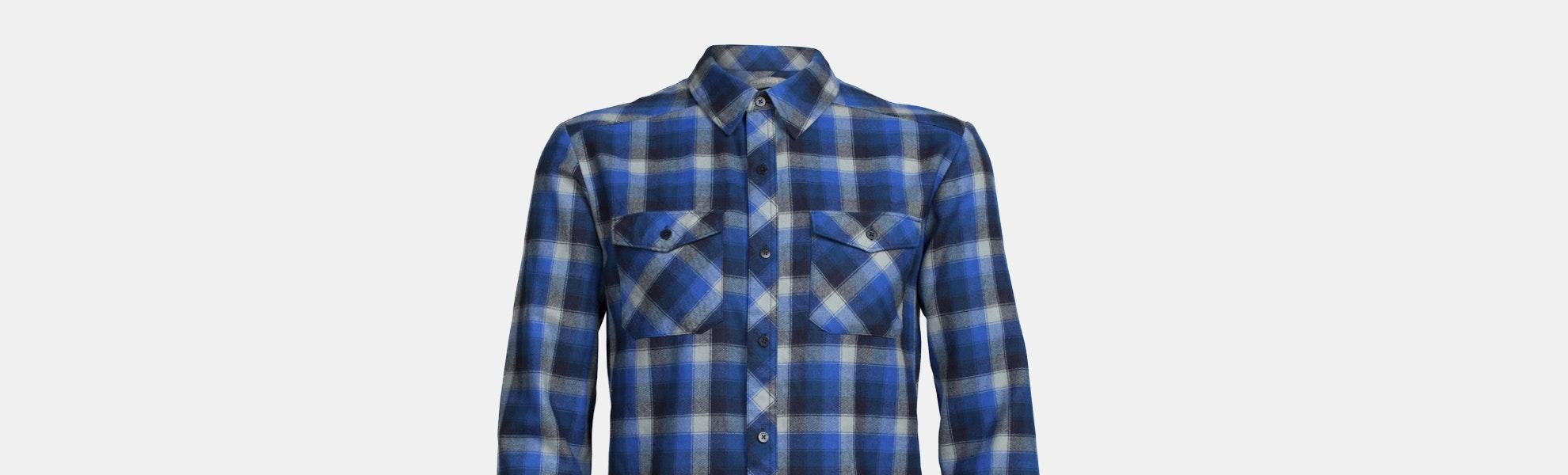 Icebreaker Men's Lodge Long Sleeve Plaid Shirt