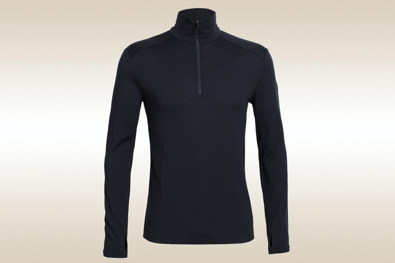 Tech Top Long-Sleeve Half-Zip, Black