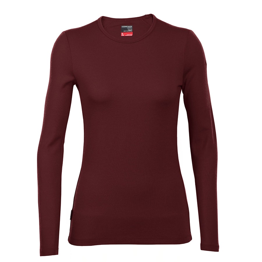 Tech Top Long-Sleeve Crewe: Redwood (+ $XX)