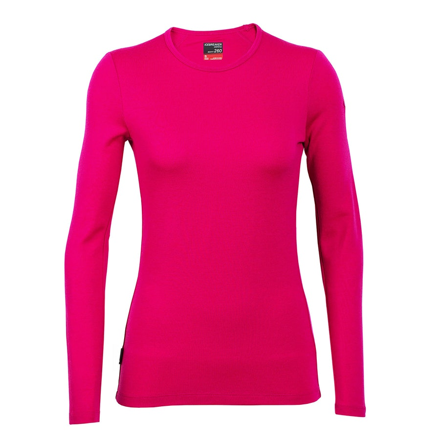 Tech Top Long-Sleeve Crewe: Pop Pink (+ $XX)