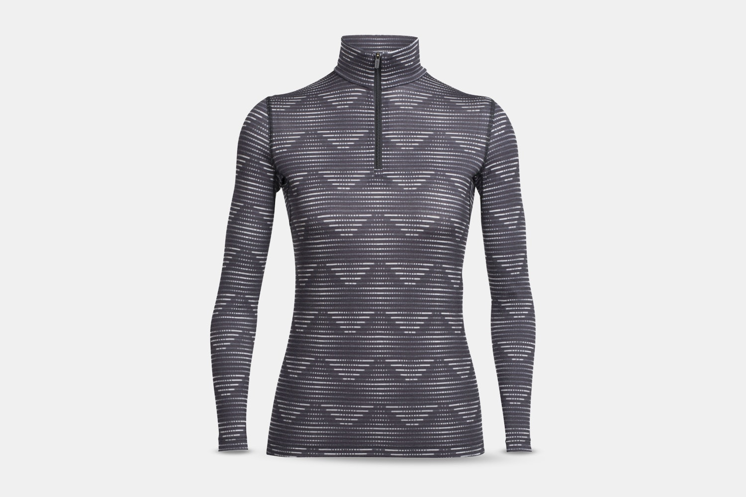 Oasis LS Half Zip Diamond Line – Blizzard Hthr/Black (+ $10)