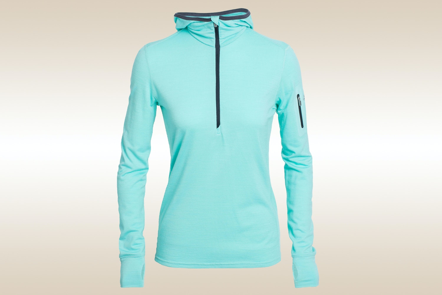 Terra Long-Sleeve Half-Zip Hood, Tasman