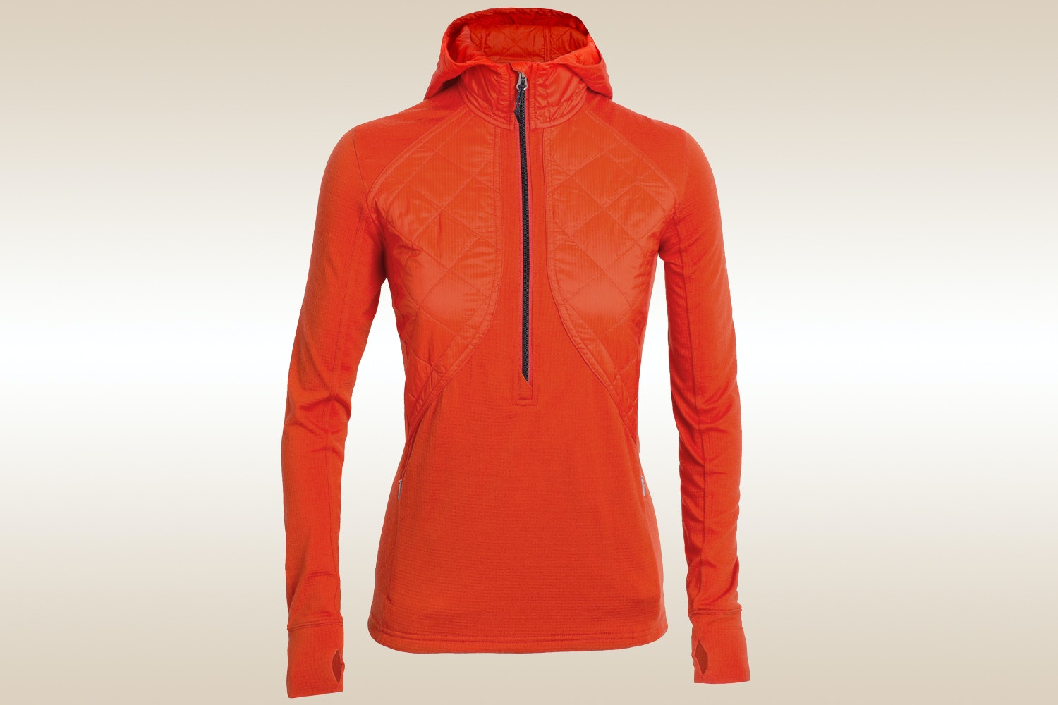 MerinoLOFT Ellipse  Long-Sleeve Half-Zip Hood, Molten