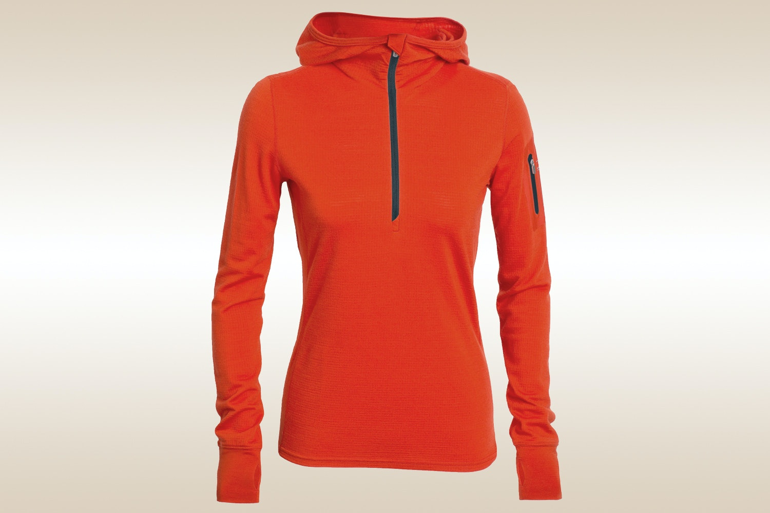 Terra Long-Sleeve Half-Zip Hood, Molten