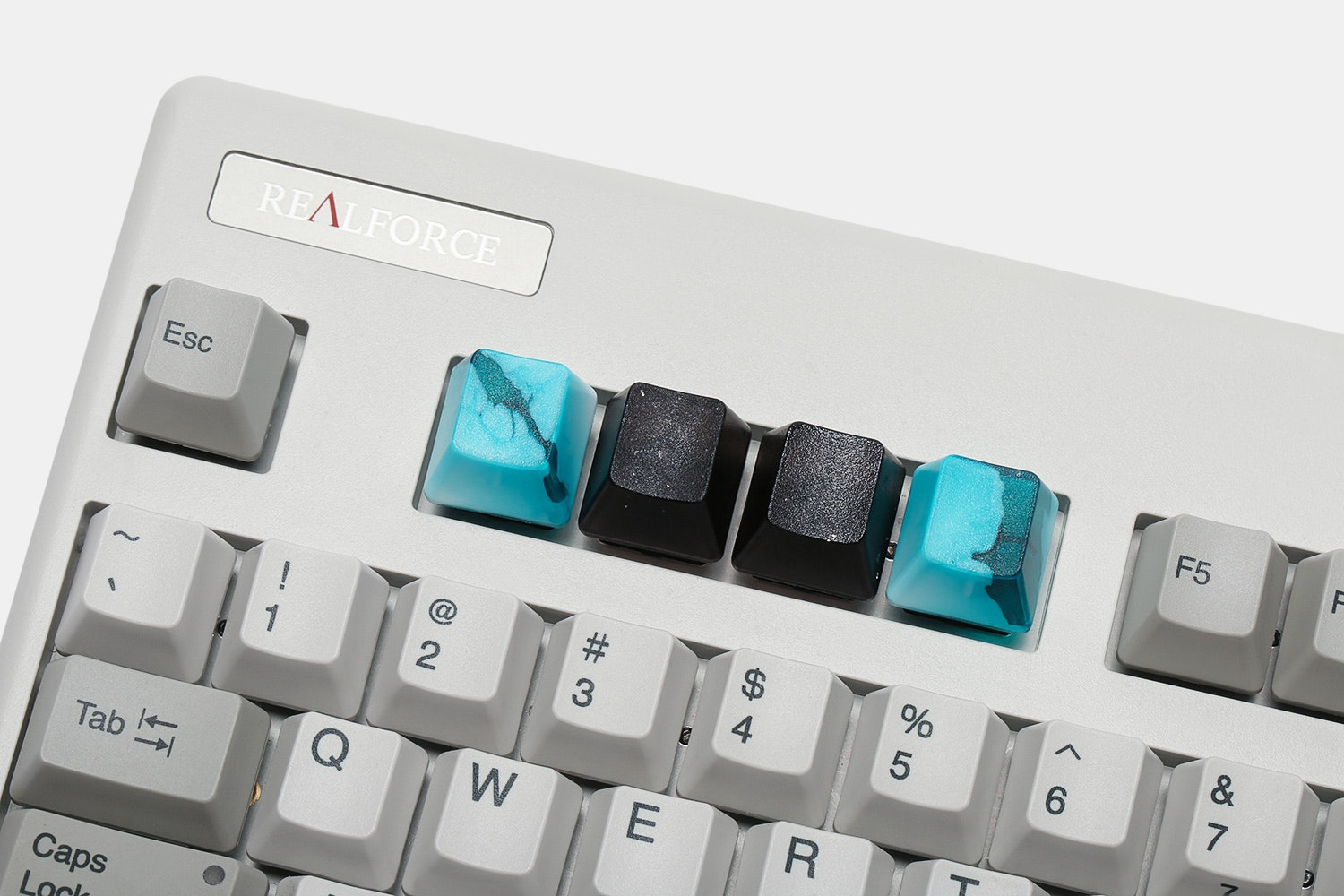 Idea23 Marbled Resin Topre Artisan Keycaps (4-Pack)