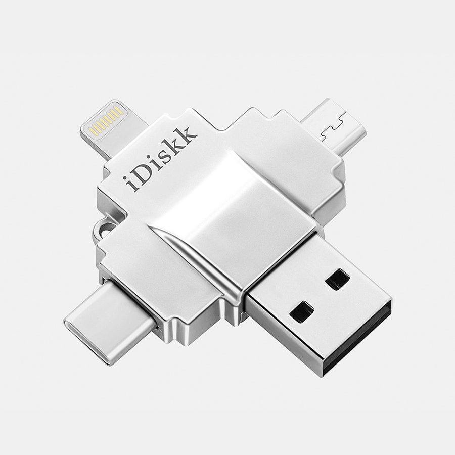 iDiskk USB 3.0 4-in-1 Flash Drives (100 MB/s)