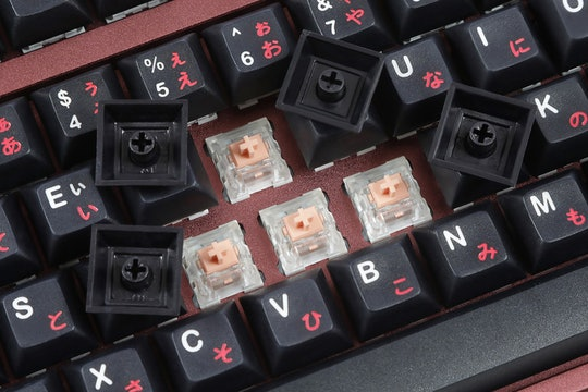IDOBAO DSA Black Sakura PBT Keycap Set