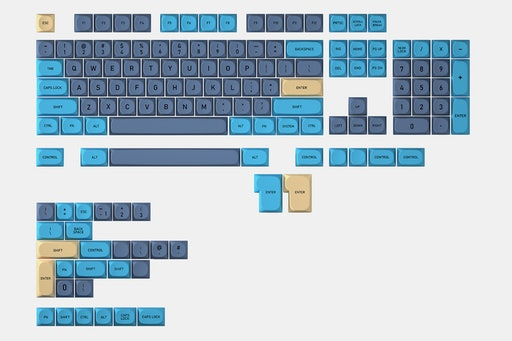 IDOBAO MA Blue Cat PBT Dye-Subbed Keycap Set