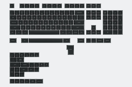 IDOBAO MA Monochrome PBT Dye-Subbed Keycap Set