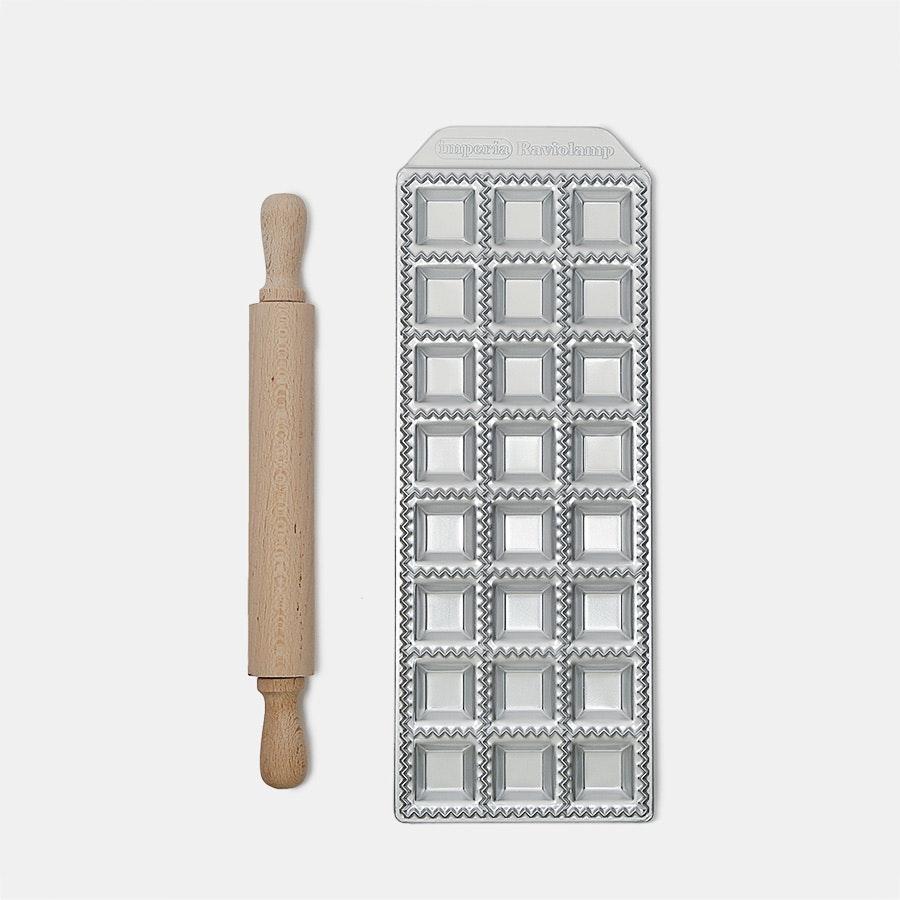 Imperia Raviolamp 24 Ravioli Classici & Rolling Pin