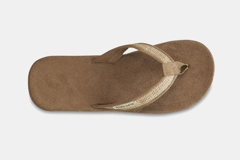 d3ef2fd78618f Indosole Tan Burlap Flip-Flops