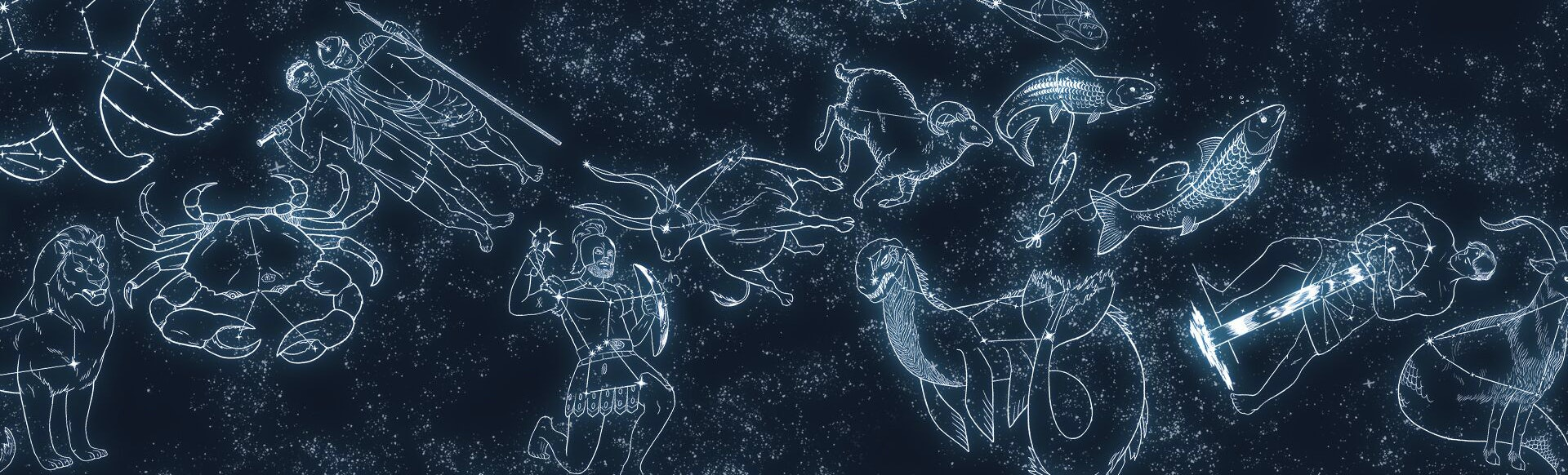 Inked and Screened Greek Constellations Prints