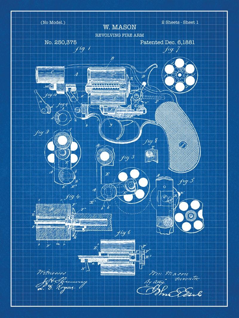 Revolver - W. Mason - 1881 - 250,375
