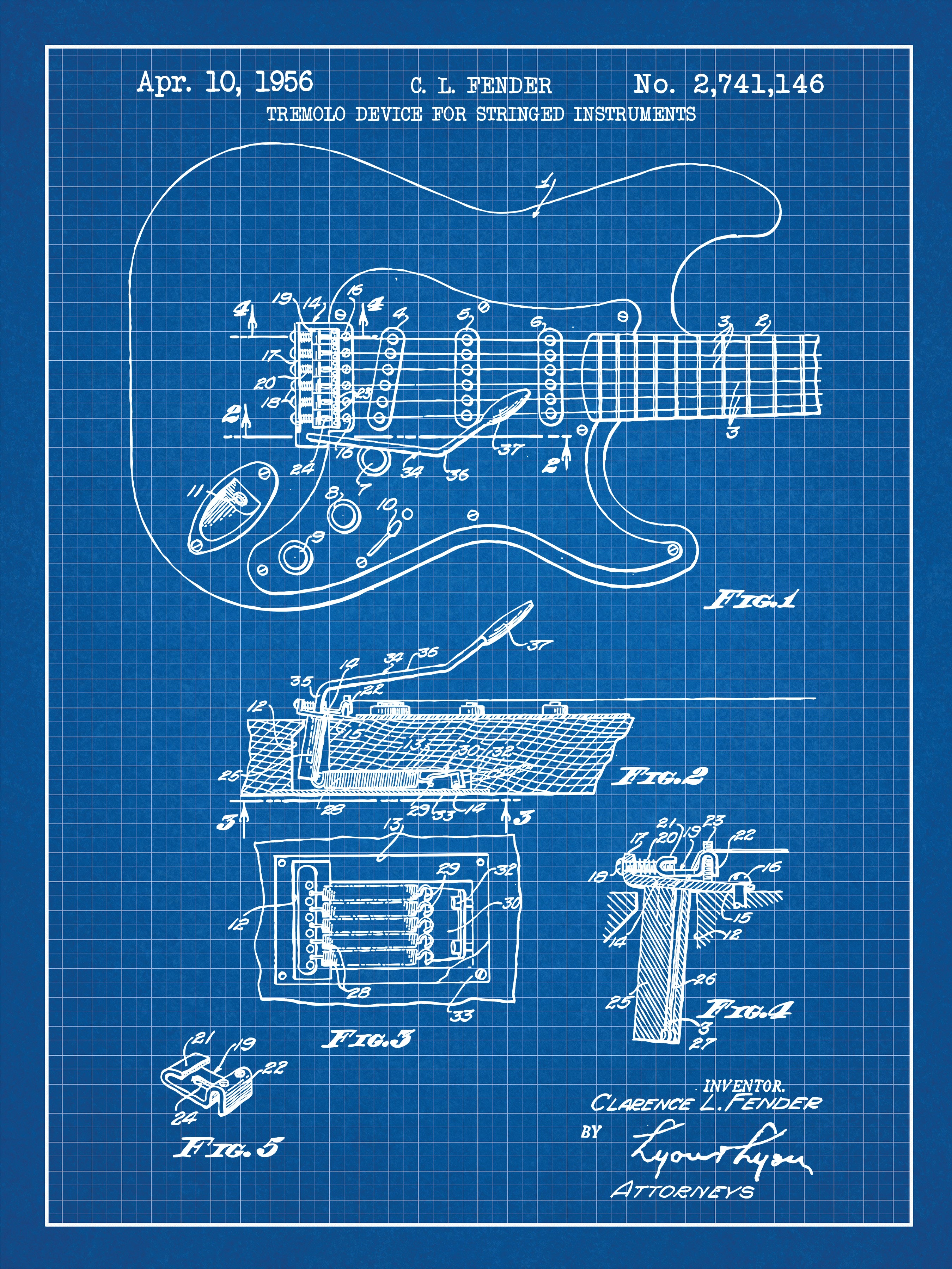 Fender Guitar - C.L. Fender - 1956 - 2,741,146