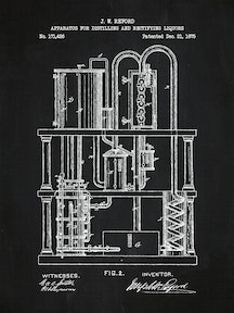 Apparatus for distilling and Rectifying Liquors #1 - 171,426A